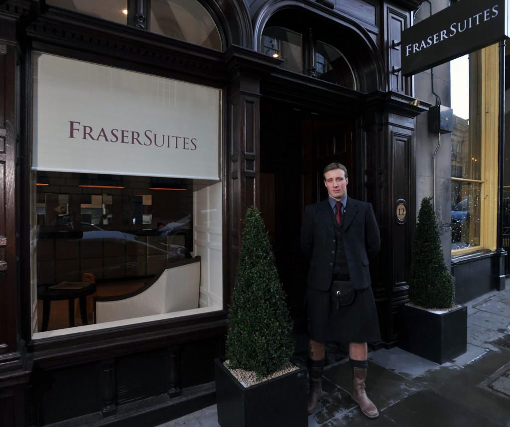 Hotel PR photography of Concierge at Fraser Suites in Edinburgh