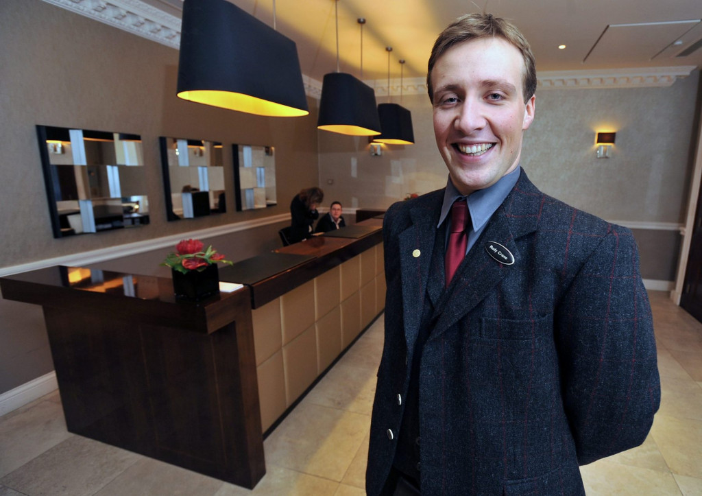 Hotel PR photography of Rudy  Crane, the Concierge at Fraser Suites in Edinburgh