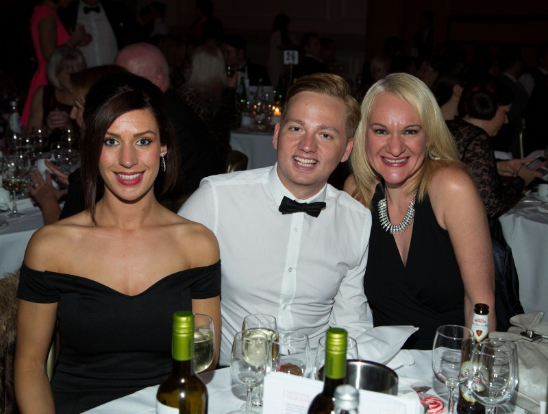 Staff from award winning public relations agency at Scottish PR awards event in 2014