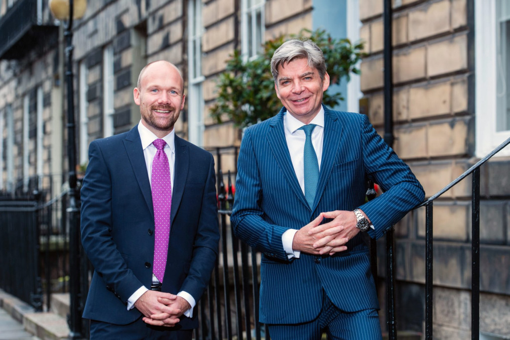PR phtography captures appointment of Steve Rowntree at Johnston Financial in Edinburgh, Scotland