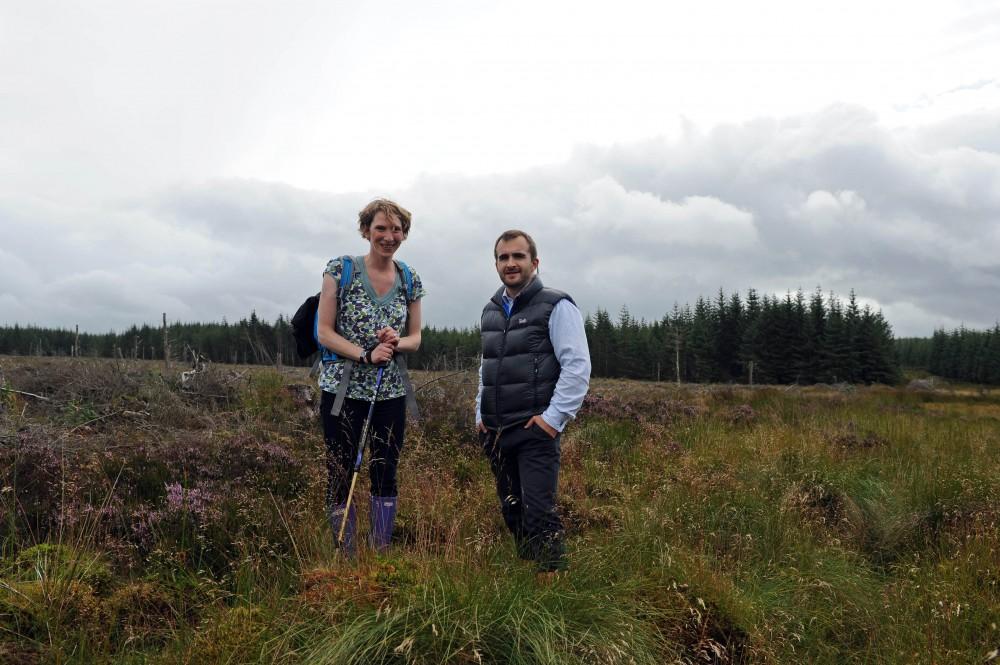 PR photos of peat bog inspection for Banks Renewables