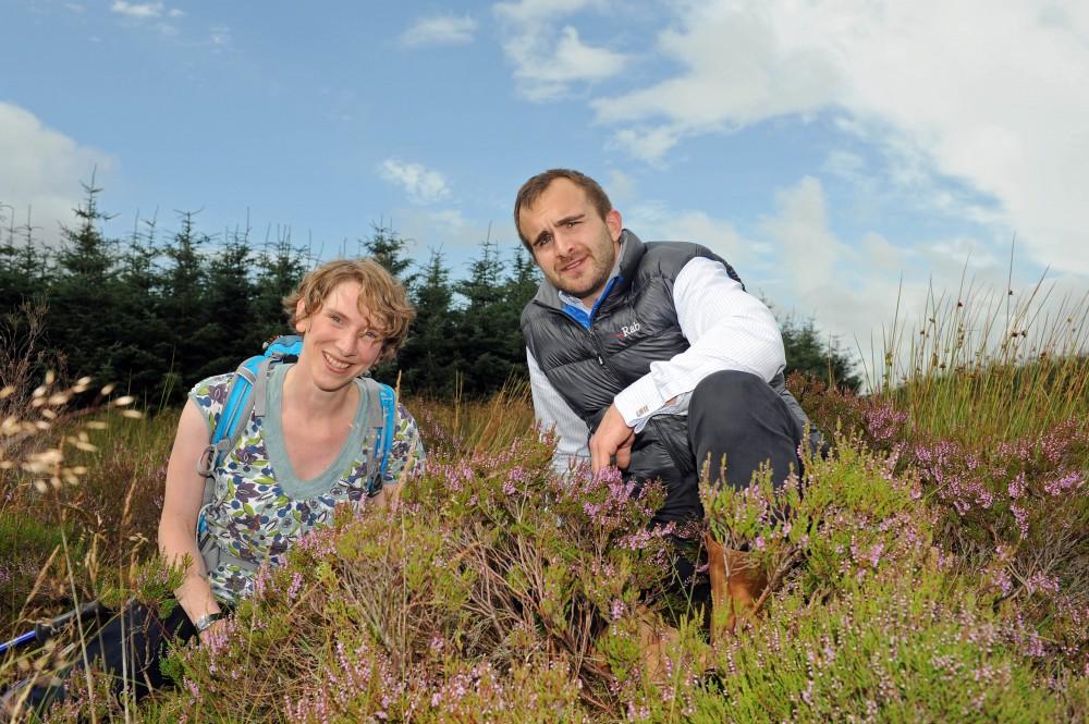 PR photography at peat bog for Banks Renewables