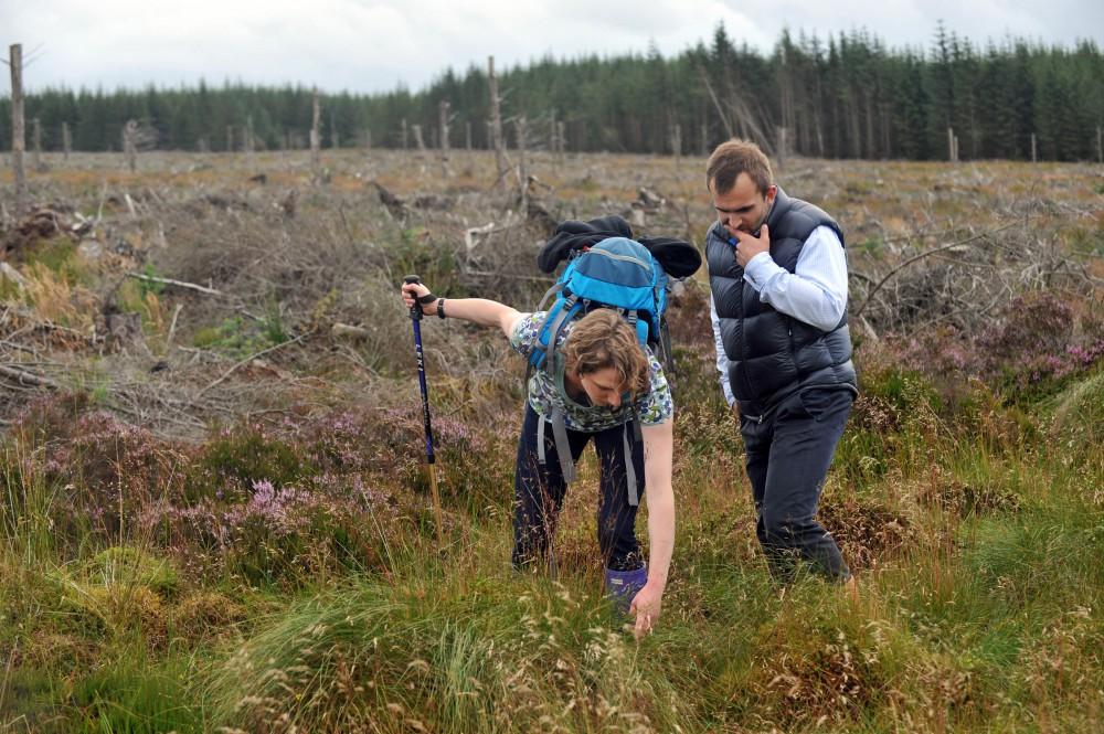 PR photos at Scottish peat bog