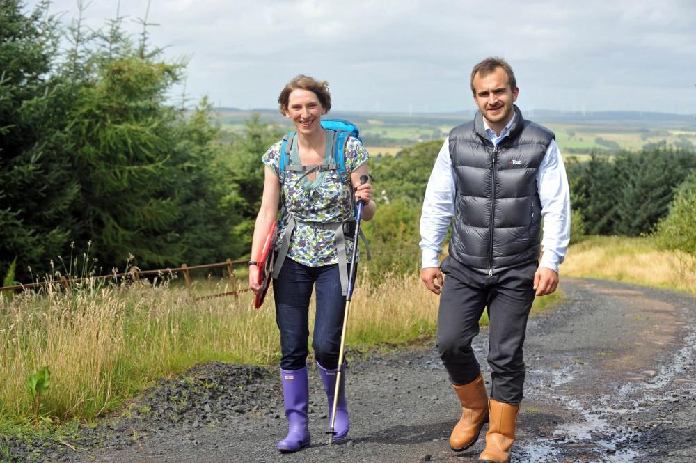 Banks Renewables arranged PR photos of peat bog