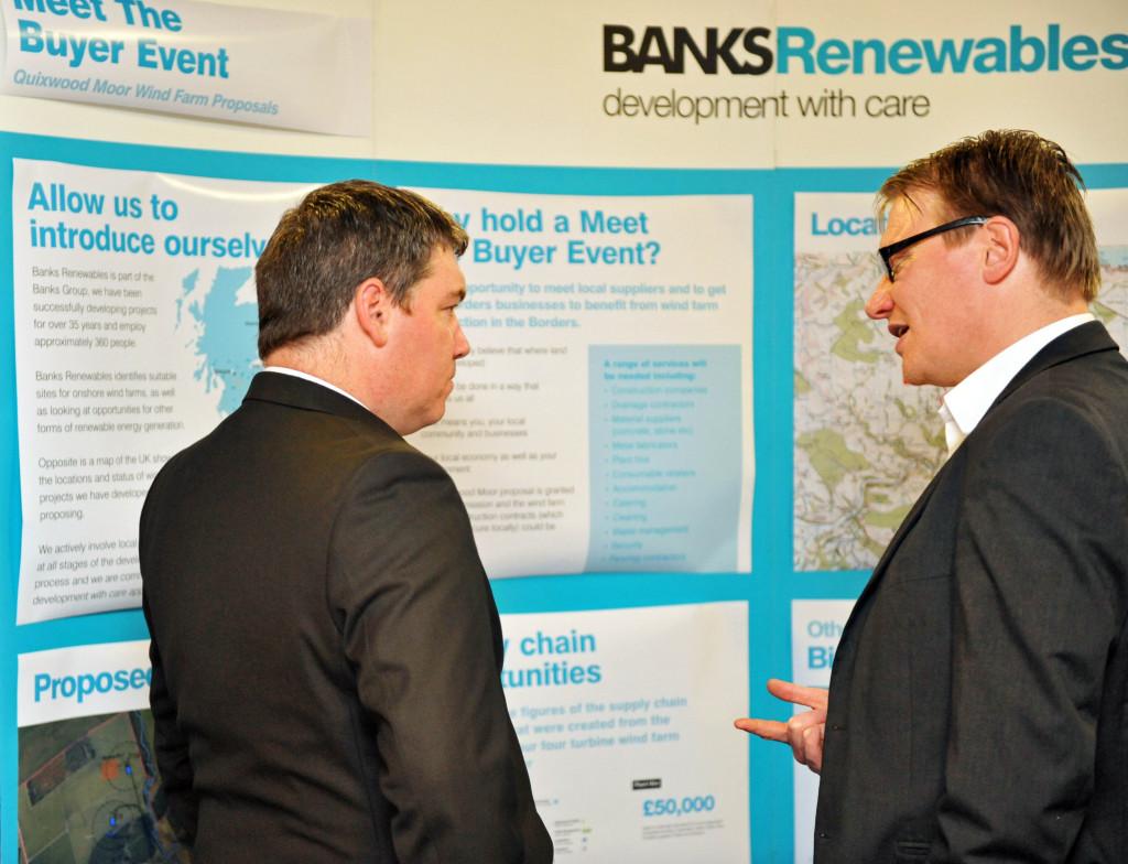 Banks Renewables organised public exhibition for Quixwood Moor wind farm
