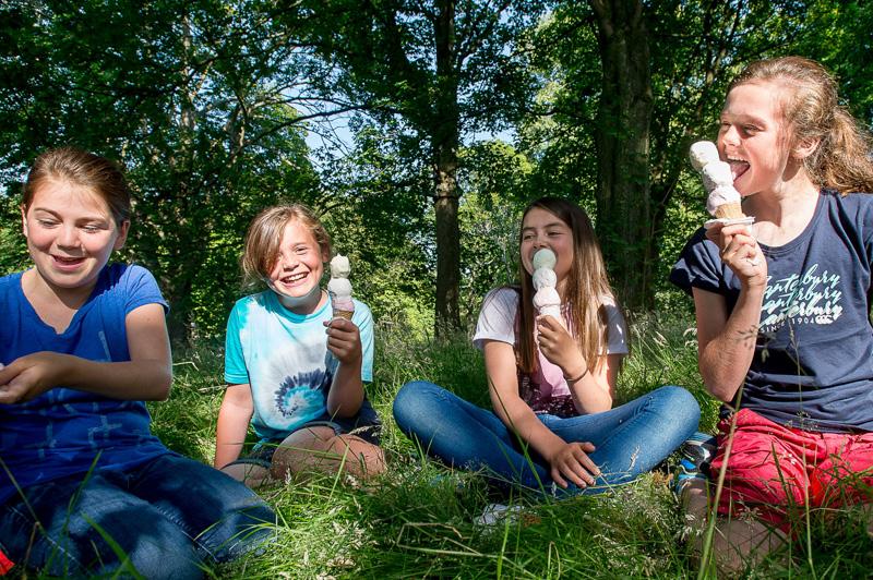 Floral ice cream at Botanics