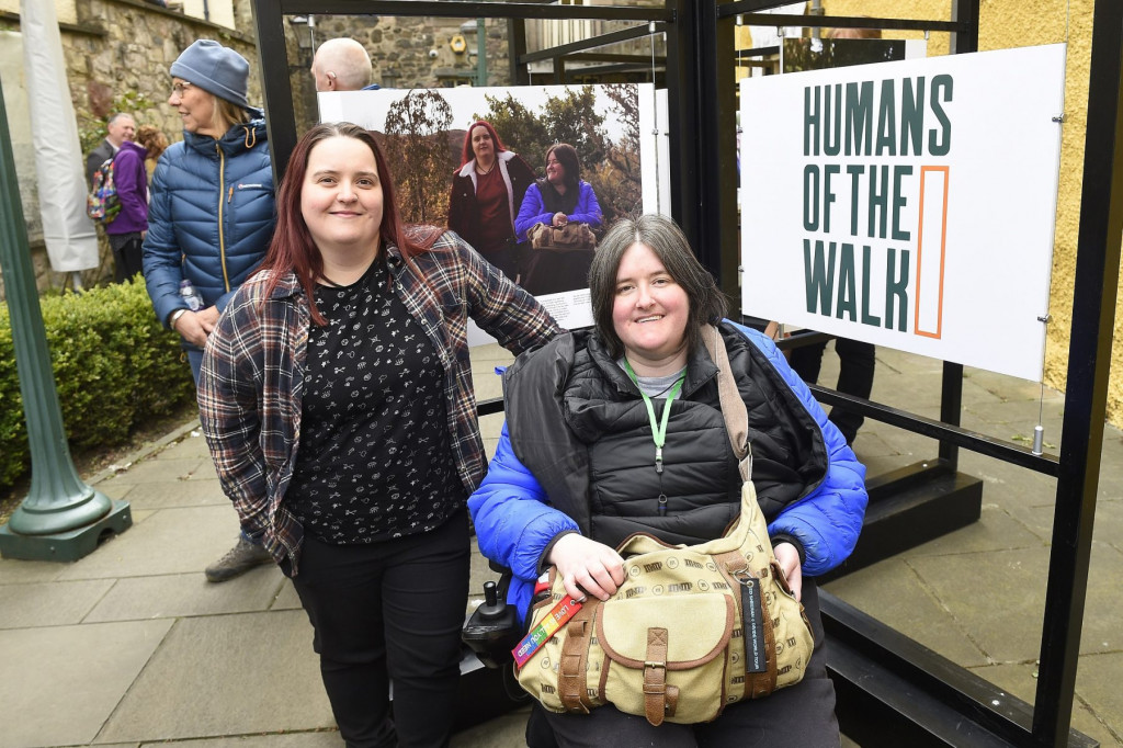Karine and Sarah Mather at the Humans of the Walk exhibition launch