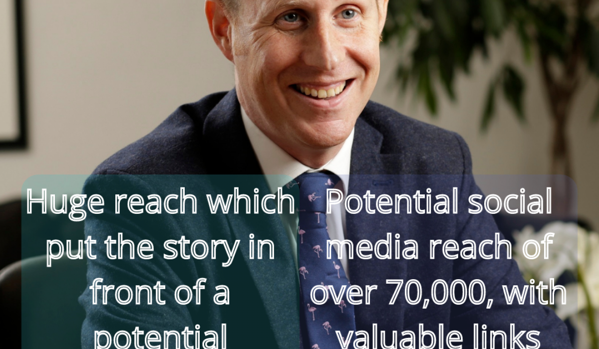 Scottish PR success post graphic on public relations expert Holyrood PR's saturated job market story with Core-Asset Consulting