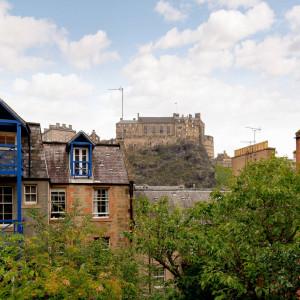 Property PR photography, Signal house view of Edinburgh Castle, Simpson & Marwick.