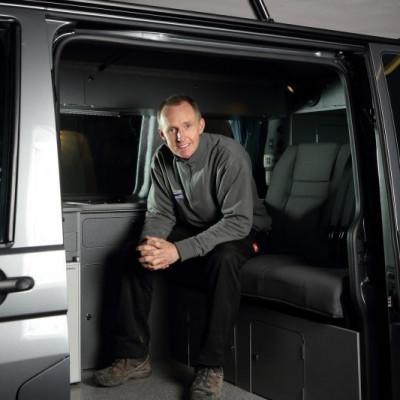 Simon Poole in Jerba Campervan Resized consumer PR in Scotland