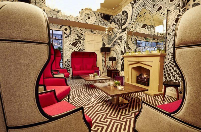 Hotel PR photograph captures the impressive Georgian Lounge in Tigerlily, Edinburgh
