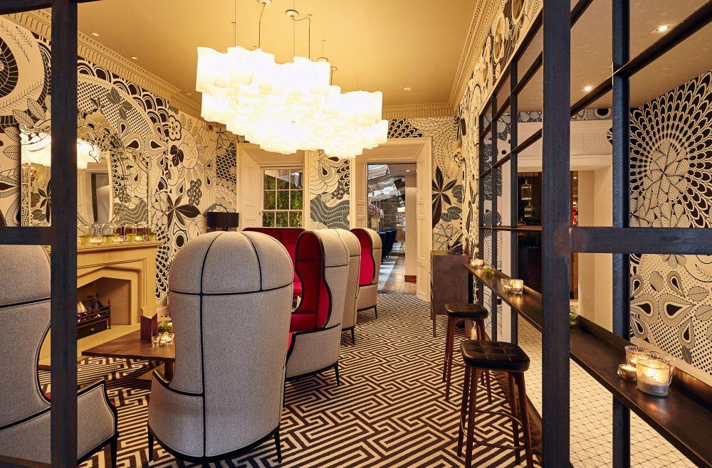 Hotel PR photograph of Georgian Lounge in Tigerlily, Edinburgh