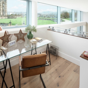 Property PR photography, The Crescent home office view, CALA Homes (East).