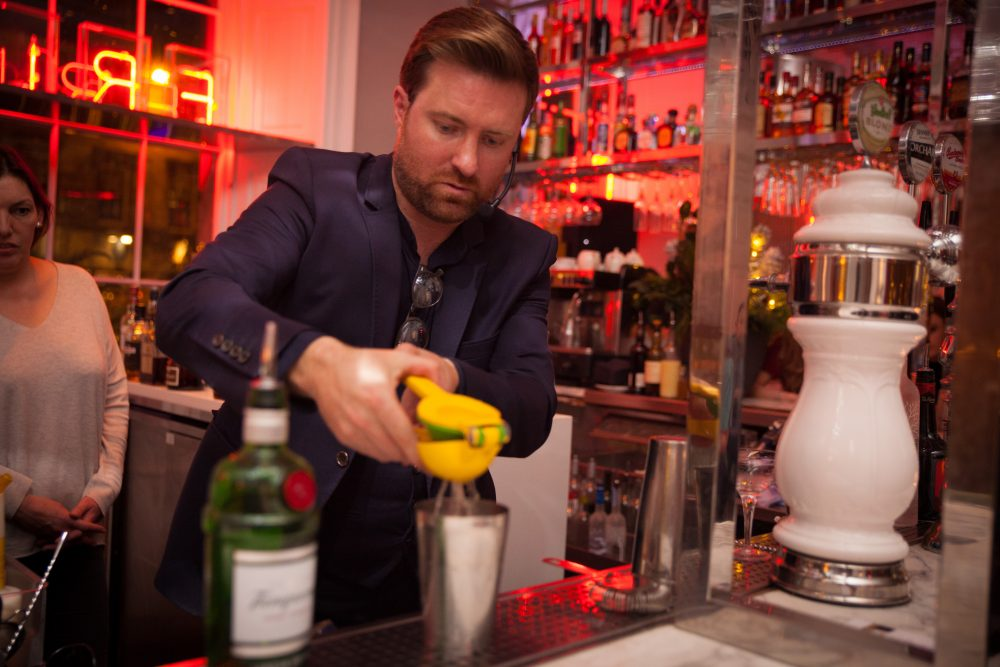 A mixologist gives a cocktail-making masterclass at Tigerlily in Edinburgh