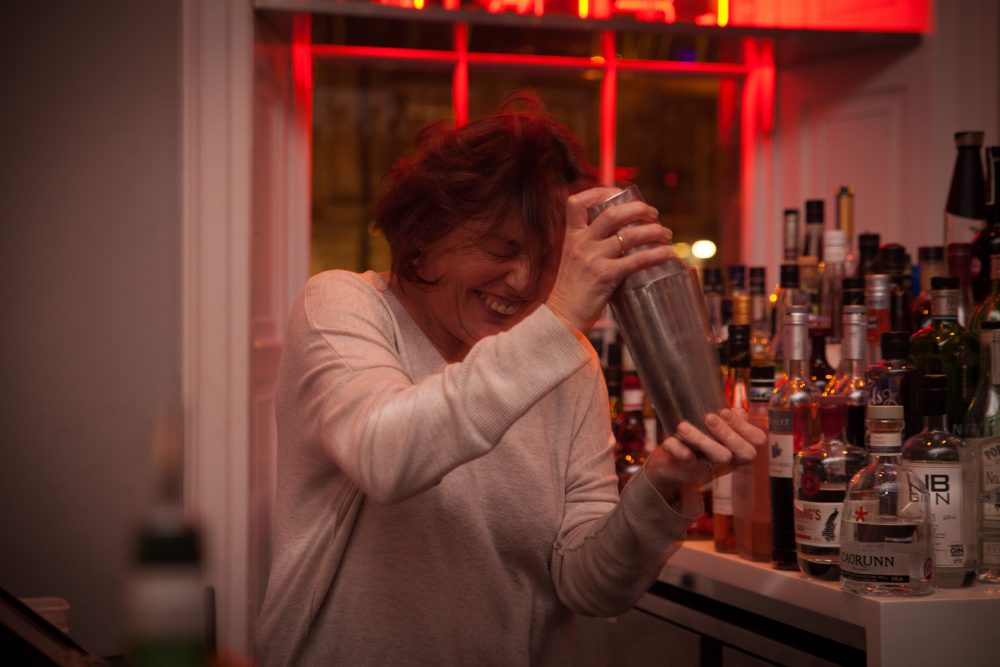 A guest enjoys a cocktail-making and mixology masterclass at Tigerlily in Edinburgh