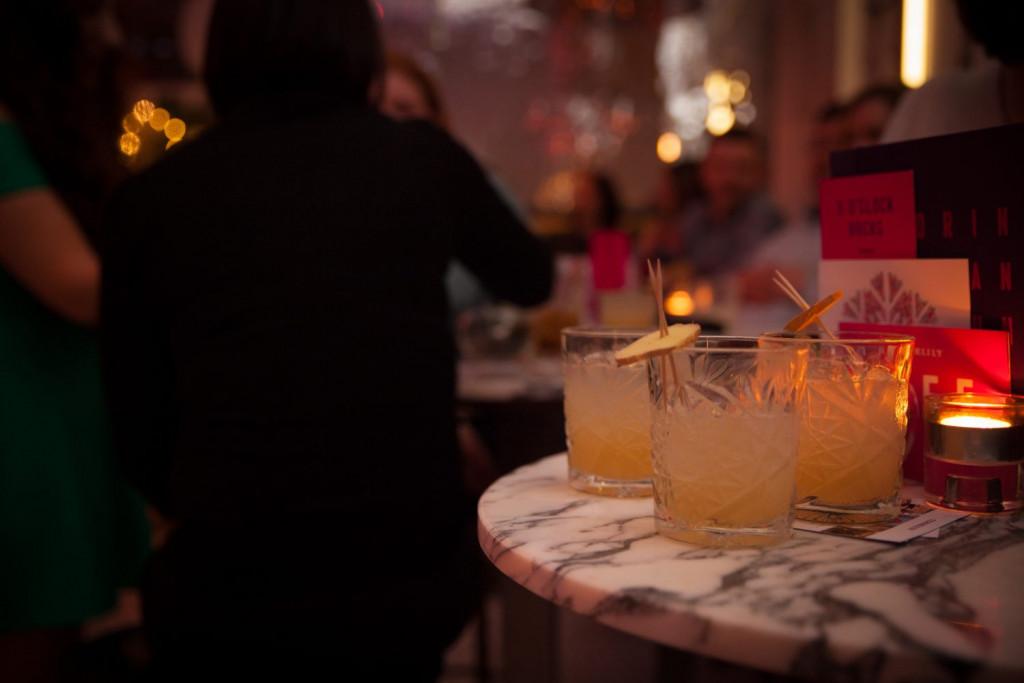 Hotel PR photograph of exquisite cocktails