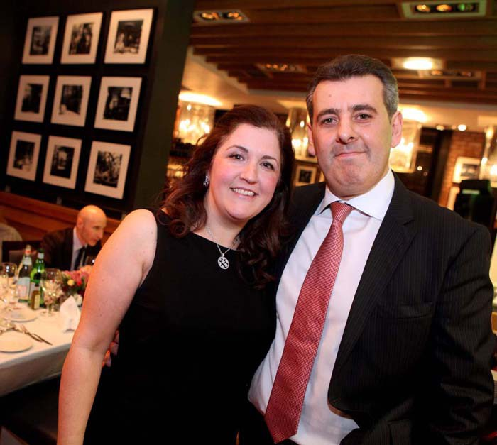 Tony Crolla and his wife are seen in a PR photograph at the launch of his latest venture, Divino Enoteca