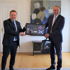 Volodymyr and Icelandic president, Guðni Th. Jóhannesson, Tech PR photography
