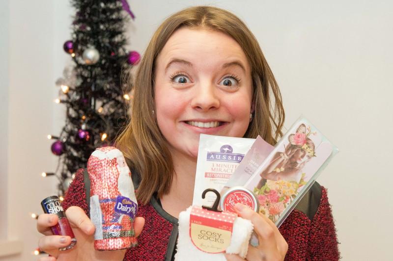 Edinburgh PR agency handing out their secret santa  presents