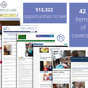 Social Care PR success post graphic on public relations expert Holyrood PR's round-up of coverage with Mansfield Care