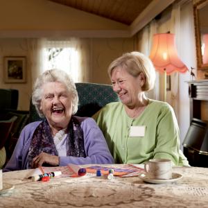 Social care PR photography, stock of carer, Netli.