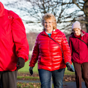 Health PR photography, winter walking family for Paths for All Winter Walking Campaign