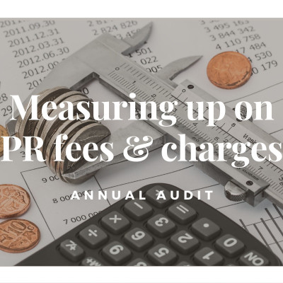 Graphic design for PR costs, fees and charges