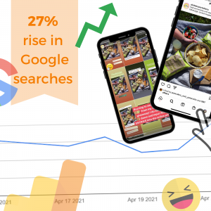 Digital PR photography, Mackie's Crisps saw huge rise in Google searches success graphic.